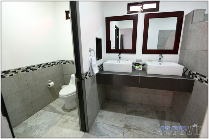 New bathroom with modern tile work