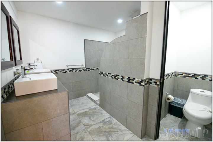 Huge bathroom with water closet