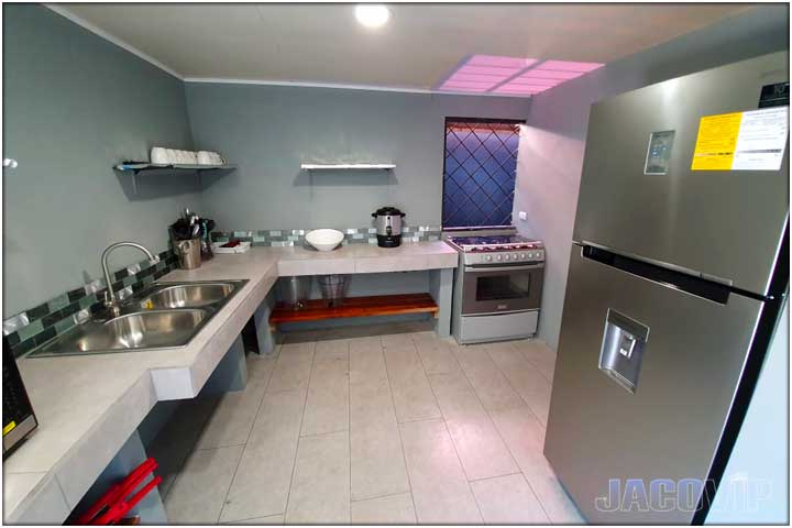 Fridge and Gas Stove in kitchen
