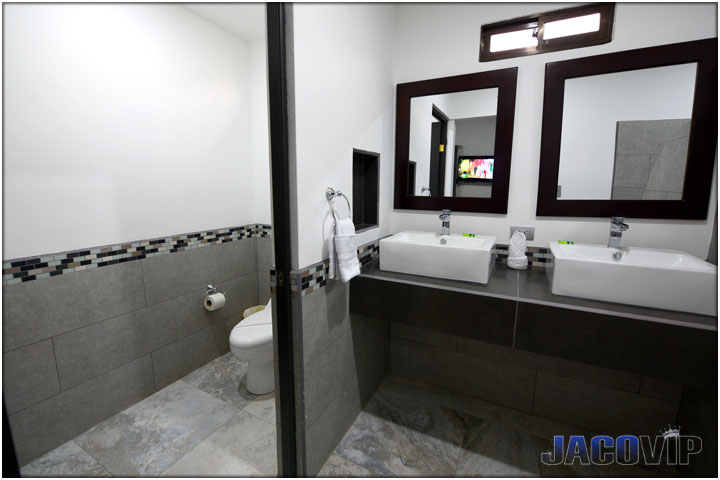 New modern bathroom with 2 sinks