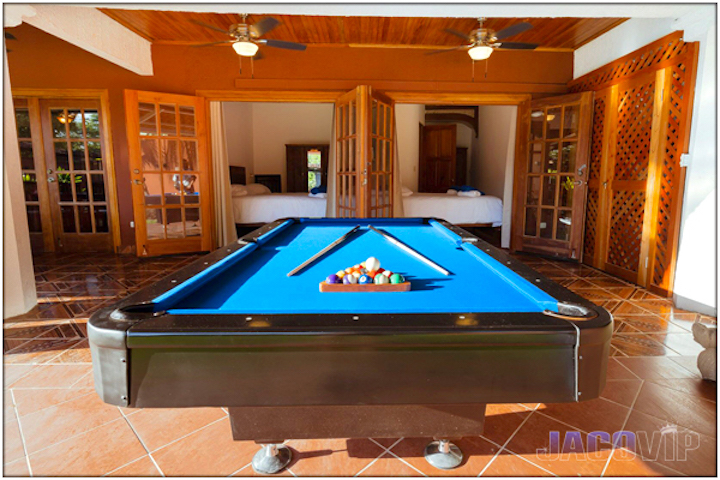 Full size pool table for recreation