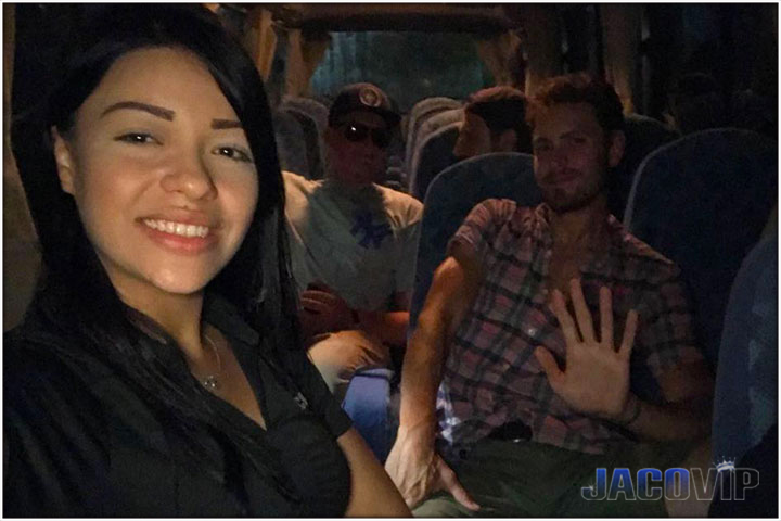 Jaco VIP Concierge with group on bus