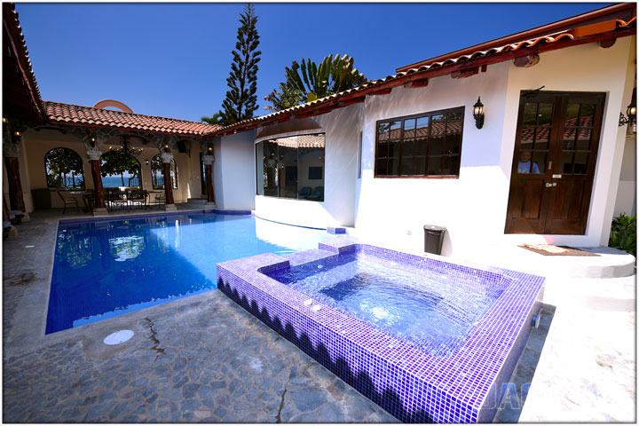 Jacuzzi and Swimming Pool within the courtyard