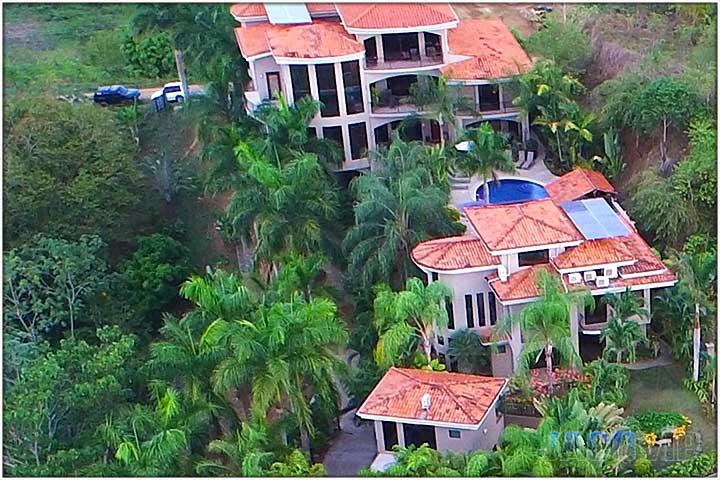 Aerial Of Casa Ponte In Jaco Costa Rica