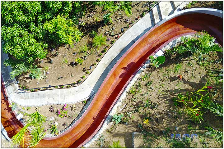 Overhead view of Water Slide at Casa Ponte 1 and 2