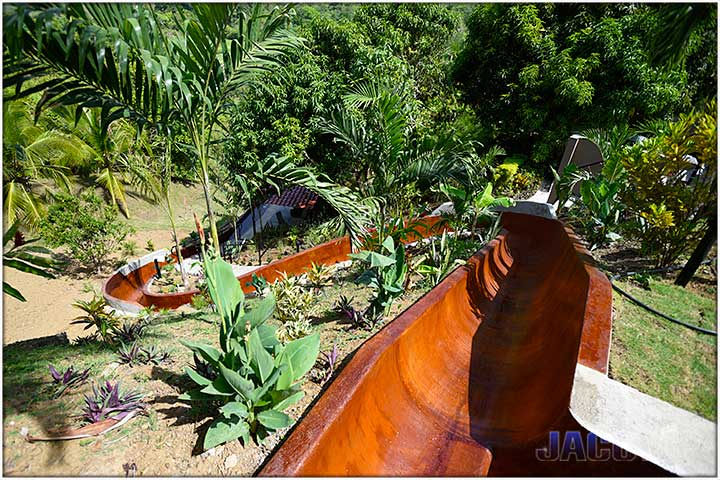 Water Slide at Casa Ponte in Jaco Costa Rica