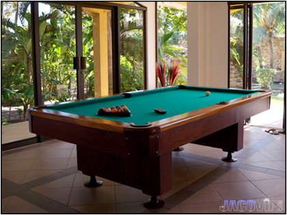 Master Living Area with Pool Table