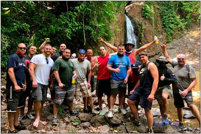 ATV group tour to a waterfall