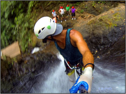 Waterfall Rappeling near Jaco Beach