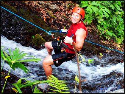 Waterfall Rappeling in Jaco Beach area