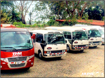 New buses and vans for private transportation